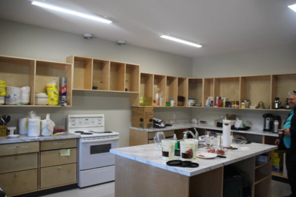 Inside the Mill Bay Baptist Church Kitchen